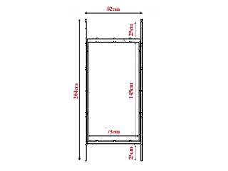 Bramka metalowa (ocynkowana) + folia + spinki montażowe - Zestaw