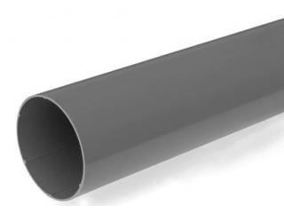 Rurka PCW szara, fundamentowa, średnica 40 mm, długość 0,35 m.