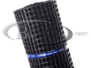 Siatka kontenerowa (plastikowa) K003 - czarna 1,20 x 25 mb