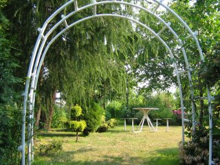Pergola ogrodowa PCW - podwójna