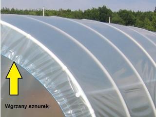Komplet Folii UV4 na tunel foliowy PCW o rozmiarze 12,00m x 3,00 x 1,90m