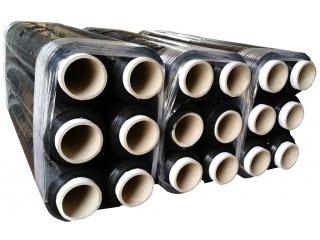 Folia stretch ręczna - czarna - szerokość 500mm - grubość 23mic - 18 rolek